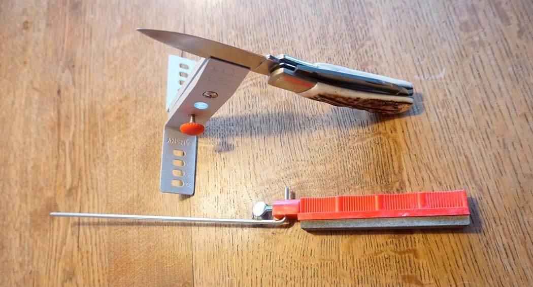 Kniv sat fast i Lansky knivholder