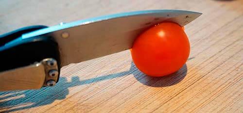 Kan din kniv skære igennem en tomat?